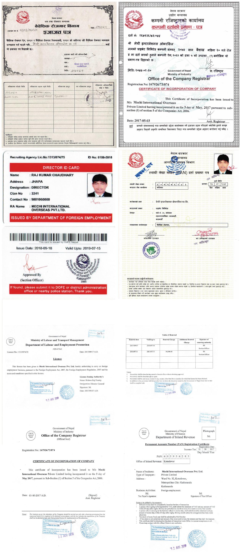 Legal Documents - Mechi Overseas